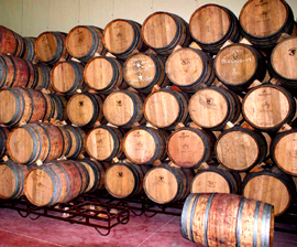 used wine barrel